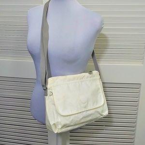 Kipling Cream White Cross Body Messenger Bag